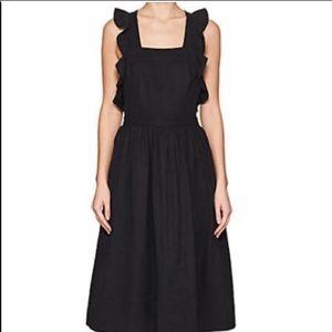 ULLA JOHNSON black pinafore dress NEW WITH TAGS